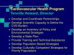 cardiovascular health program tennille howard director