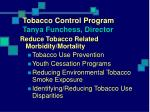 tobacco control program tanya funchess director