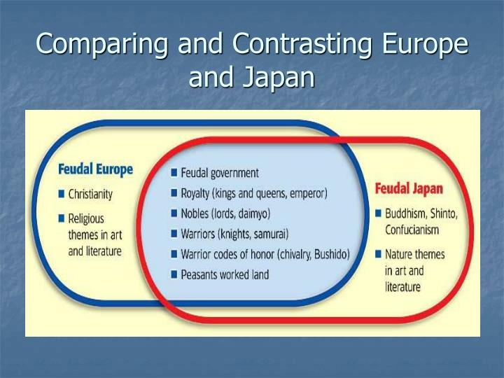 write an essay comparing and contrasting feudalism in japan and europe