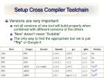 setup cross compiler toolchain29