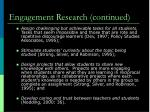 engagement research continued1