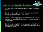 link to curriculum indicators