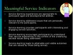 meaningful service indicators