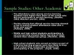 sample studies other academic