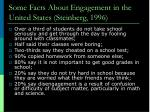some facts about engagement in the united states steinberg 1996