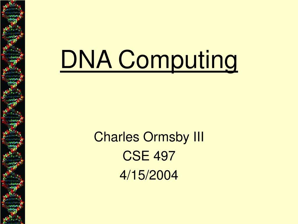 dna computing l.