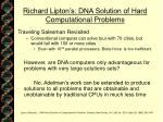 richard lipton s dna solution of hard computational problems21
