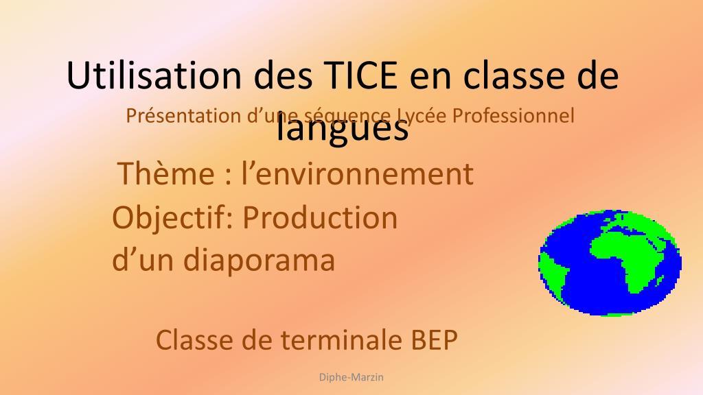 utilisation des tice en classe de langues l.