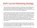 dell s current marketing strategy