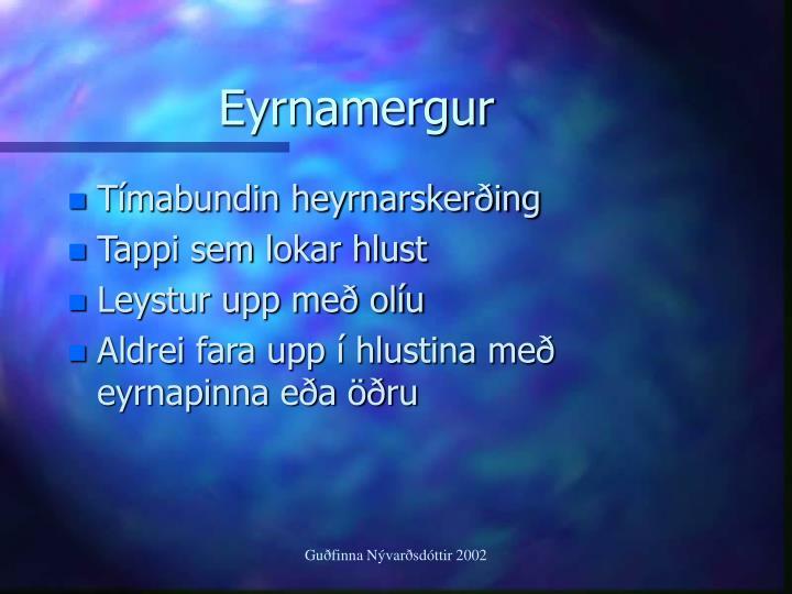 Eyrnamergur