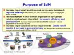 purpose of idm