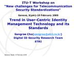 trend in user centric identity management technology and its standards