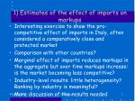 1 estimates of the effect of imports on markups
