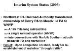 interim system status 2003