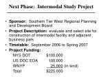 next phase intermodal study project