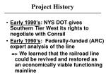 project history1