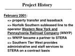 project history8