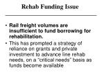 rehab funding issue