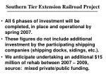 southern tier extension railroad project1