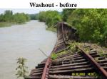 washout before
