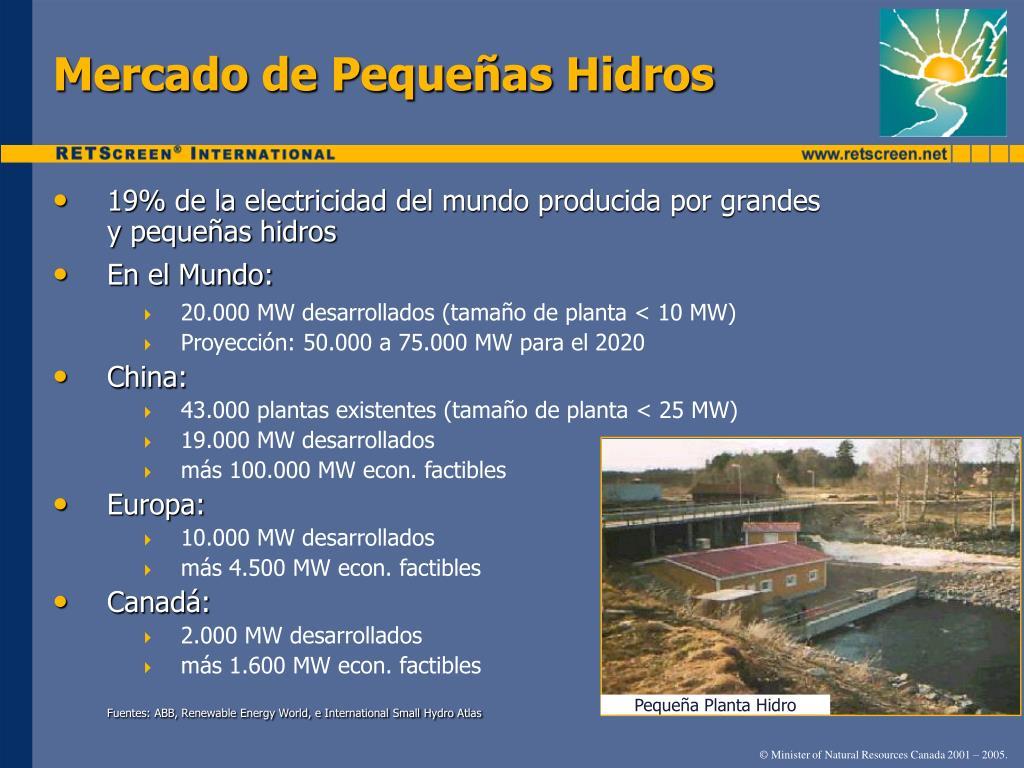 Mercado de Pequeñas Hidros