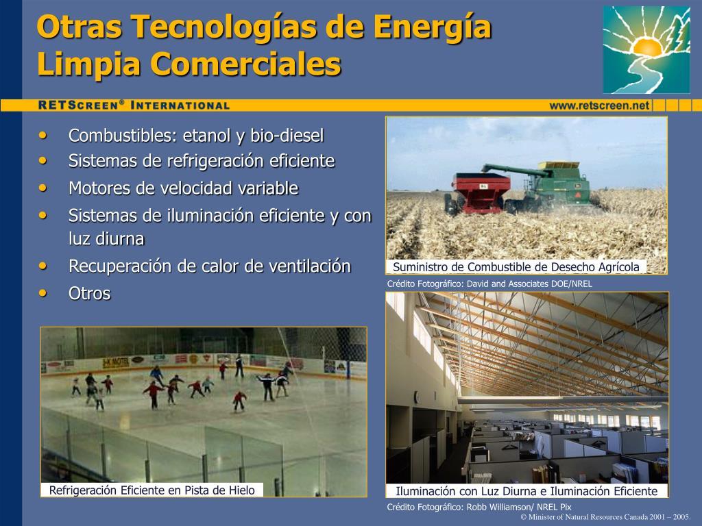 Otras Tecnologías de Energía Limpia Comerciales