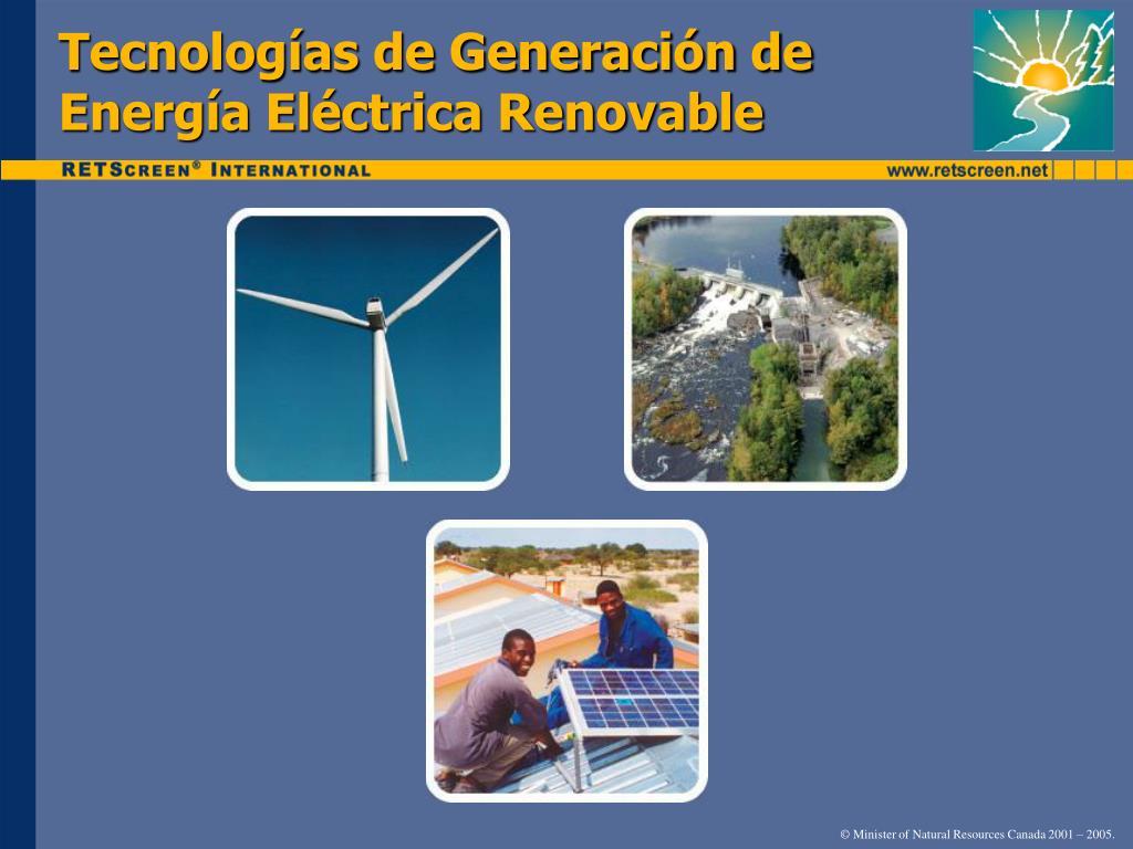 Tecnologías de Generación de Energía Eléctrica Renovable