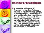 find time for data dialogues11