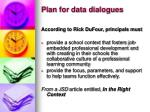 plan for data dialogues