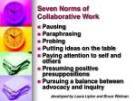 seven norms of collaborative work