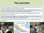 the activities