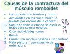 causas de la contractura del m sculo romboides