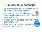 causas de la dorsalgia