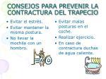 consejos para prevenir la contractura del trapecio