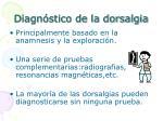 diagn stico de la dorsalgia