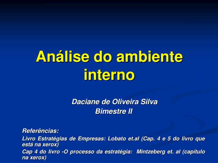 an lise do ambiente interno n.