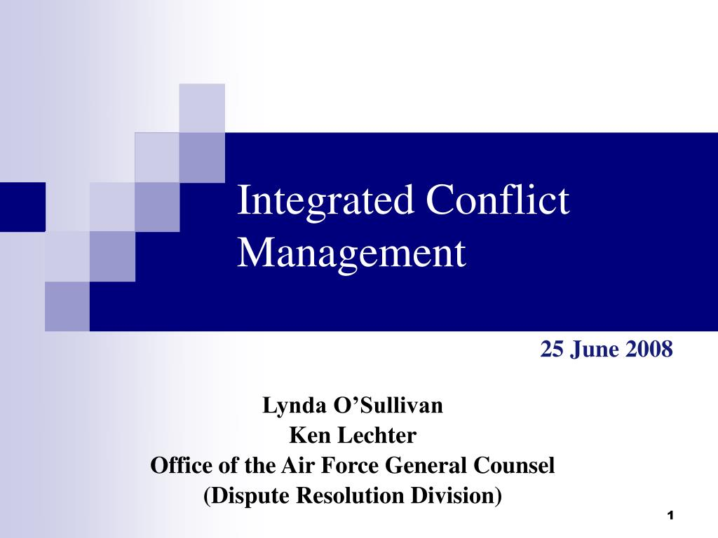 integrated conflict management l.