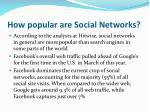 how popular are social networks