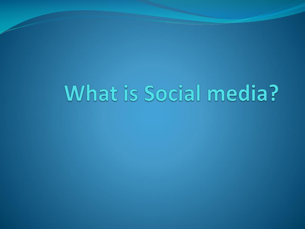 what is social media l.