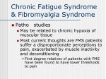 chronic fatigue syndrome fibromyalgia syndrome31