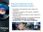 procurve delivers on its adaptive networks vision