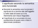 il significato secondo la semantica vero funzionale