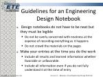 guidelines for an engineering design notebook7