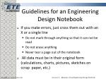guidelines for an engineering design notebook8
