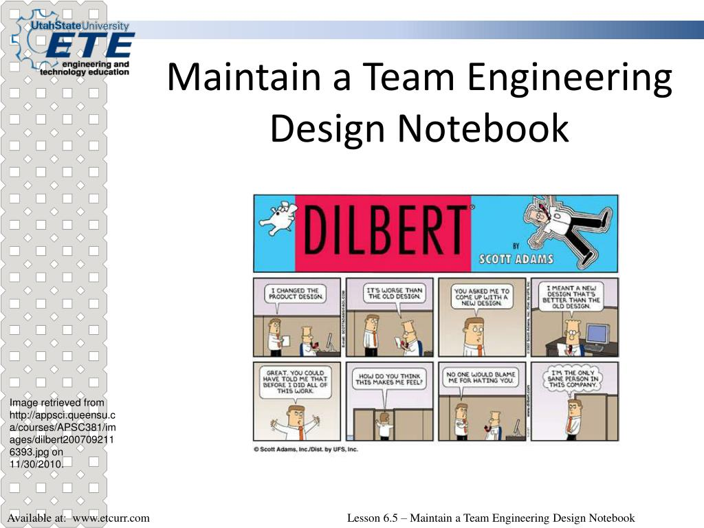 maintain a team engineering design notebook l.
