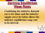 deriving equilibrium wage rates