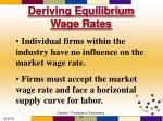 deriving equilibrium wage rates57