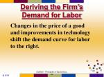 deriving the firm s demand for labor28