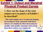 exhibit 1 output and marginal physical product curves