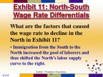 exhibit 11 north south wage rate differentials
